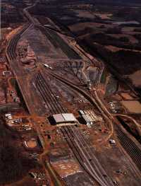 Aerial view during construction of Spencer Yard at Linwood. Click for a larger view & use your back button to return to this page.